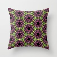 Abstract Circles Throw Pillow by kasseggs
