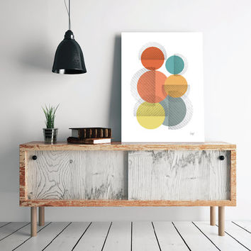 INSTANT DOWNLOAD, Abstract art Circles Poster Geometric art poster Minimal Modern Scandinavian Nordic Style Abstract Digital poster print.