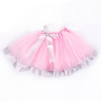 New Arrival Spring Autumn Party Dress For Girl Todder Girl Petticoat Solid Lace Pettiskirt Bowknot Tutu Tullue Dancewear