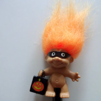 Vintage Russ Halloween Treasure Troll Pencil