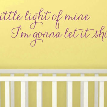 "Wall Vinyl Quote - ""Let It Shine""  -  (48"" x 11"")"