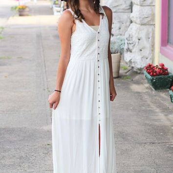 Island Hopper Maxi Dress {Ivory}