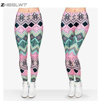PEAPON ZHBSLWT   Hot Sale New Arrival 3D Printed Fashion Women Leggings Space Galaxy Leggins