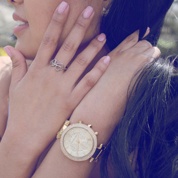 """Heart Ring for Sister Double Infinity Ring, Promise Ring """"My Sister is My Half"""" Engraved on Inside Best Gift for Sister"""