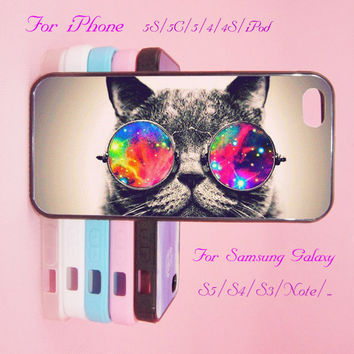 Cat,Sunglass,iPod Touch 5,iPad 2/3/4,iPad mini,iPad Air,iPhone 5s/ 5c / 5 /4S/4 ,Galaxy S3/S4/S5/S3 mini/S4 mini/S4 active/Note