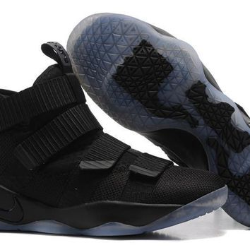 ... 84e06 c6134 Nike Lebron Soldier 11 Ep Black Ice Basketball Shoes Us7 12  amazing price ... a8d7d72b9522
