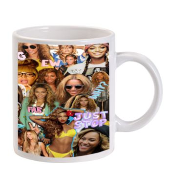 Gift Mugs | Beyonce Knowles Collage Art Ceramic Coffee Mugs