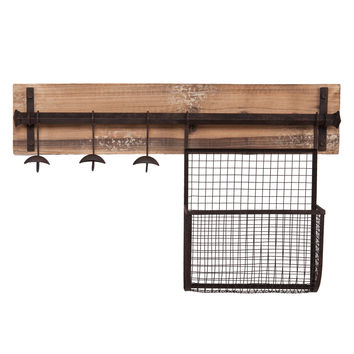 Upton Home Ashbury Entryway Wall Mount Coat Rack with Storage
