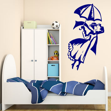 Wall Vinyl Decal Nanny-magician Mary Poppins Kids Interior Decor Unique Gift z4667