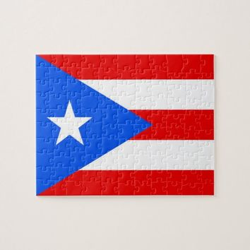 Puzzle with Flag of Puerto Rico State