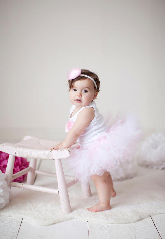 Baby Girls Birthday Tutu Dress Outfit, from StrawberrieRose on