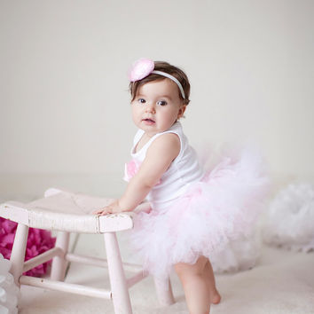 Baby Girls Birthday Tutu Dress Outfit, Dance Recital Dress, Pink Ballerina Costume, Pink Ballet Tutu