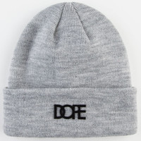 Dope Matte Logo Beanie Light Grey One Size For Men 23479013101