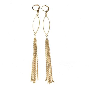 Rainbow Moonstone Fringe Earrings