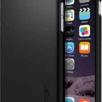 iPhone 6 Case, Maxboost® [DuraSLIM Series] iPhone 6 (4.7-inch) Case Heavy-Duty Dual-Layer Soft Touch Protective Cases Cover, Soft TPU Bumper with Hard Shell Solid Polycarbonate Back Case for iPhone 6 (4.7 inch) (2014) - Rubberized Black