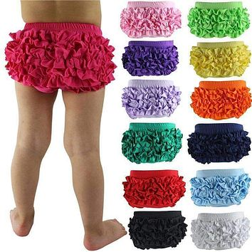 Baby Bloomers Bragas Wennikids Retail Baby Cotton Bloomers 19 Colors Cute Tutu Design Infant Ruffle Shorts Toddler Diaper Covers