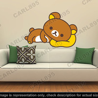 Rilakkuma Inspired - Rilakkuma (A) Wall Art Applique Sticker