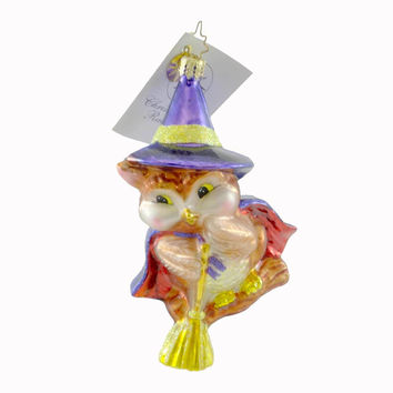 Christopher Radko Witch Winger Halloween Glass Ornament