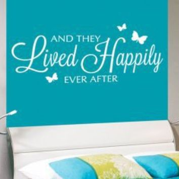 And they lived happily ever after - Fairy Tale Wall Decal Quote - Wall Decals | My Wall Decal Shop | Decorating Ideas & Wall Stickers