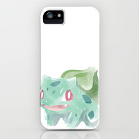 POKEMON : BULBASAUR iPhone & iPod Case by Marco Lilliu