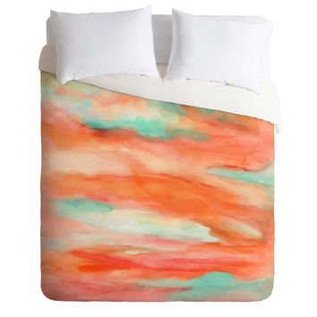 Rosie Brown Sunset Sky Duvet Cover