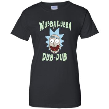 Rick & Morty Wubba Lubba Dub-Dub Drippy Text shirt