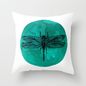 Dragonfly Throw Pillow by Luis Patino