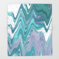 Ripple Waves Throw Blanket by sm0w