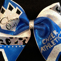 Custom Cheer Athletics Panthers Bow