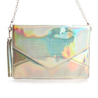 DJPremium.com - Women - Shop by Department - New - Janelle Iridescent Envelope Bag