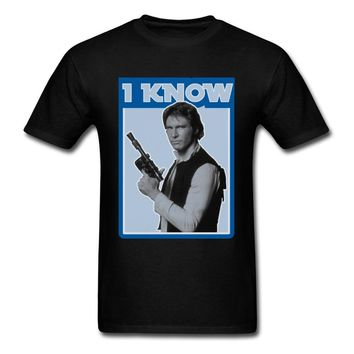 Star Wars Force Episode 1 2 3 4 5  Han Solo Retro I Know T-shirts New Coming Men's T Shirt  Thanksgiving Day Tops Tees Casual Tops Crew Neck Pure Cotton AT_72_6