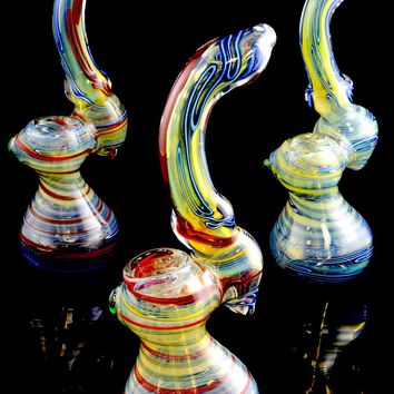 Large Color Changing Sherlock Glass Bubbler - B880