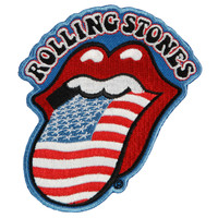 Rolling Stones Men's American Flag Embroidered Patch