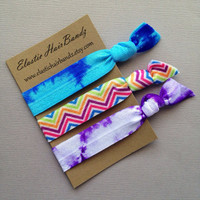 The 3-Pack Mia  Hair Tie Collection - 3 Elastic Hair Ties by Elastic Hair Bandz on Etsy