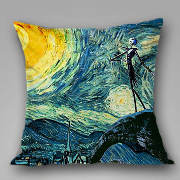 Jack Skellington's Starry Night on Decorative Pillow Covers