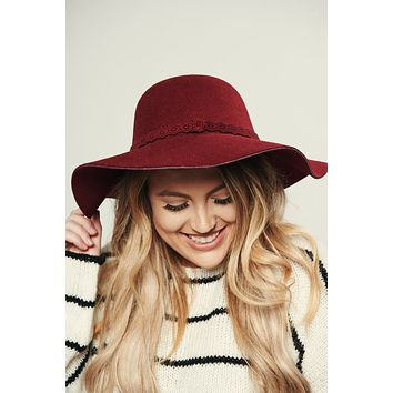 Don't Hesitate Boho Hat (Burgundy)