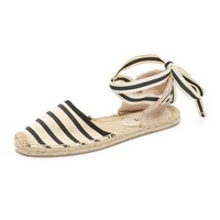 Striped Espadrille Sandals