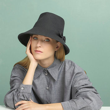 c31dd50c4e3 Fedora Felt Hat for Women , Gray Felt Hat , Women Winter Hat , Hats,