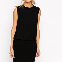 ASOS Sleeveless T-Shirt Dress with Double Layer