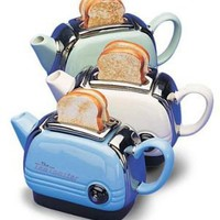 Collectable Toaster Teapot (Colour: Blue) *Free Post* - $135.00 : Balmoral Heritage - collectable english china teapots, trinket boxes, collectable thimbles, vintage english bone china, gifts, The Home of Collectable English China Gifts