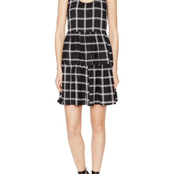 Renvy Women's Check Babydoll Dress -