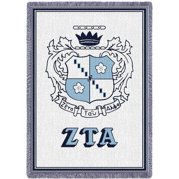 Zeta Alpha Tau Afghan Throw Blanket