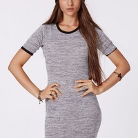 Missguided - Carolina Binded Bodycon Dress Grey
