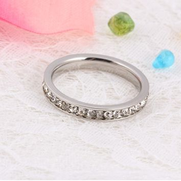 New ladies ring, folder diamond ring zircon stone ring, refers to the simple fashion ring