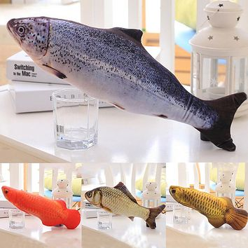 1PC Creative Pet Cat Kitten Chewing Cat Toys Catnip Stuffed Fish Interactive Kitten Product