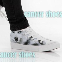 wolf converse custom canvas shoes for women model 101 new