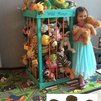 Stuffed animal storage, stuffed animal zoo, stuffed animal cage, stuffed animal hammock, stuffed animal , Zoo Cage, Toy Storage