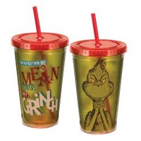Dr. Seuss You're A Mean One Mr. Grinch 18 oz. Acrylic Travel Cup