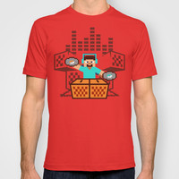 Minecraft music box T-shirt by Budi Satria Kwan