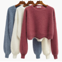 Female short paragraph autumn and winter loose sweater